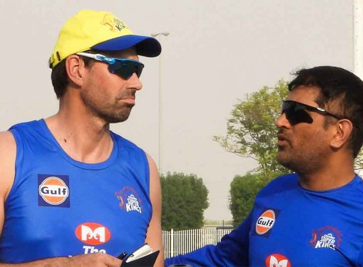 csk ms dhoni and coach